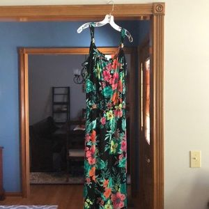 Susan Graver Printed Liquid Knit Maxi Dress